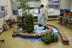 庭づくりデモンストレーションの様子