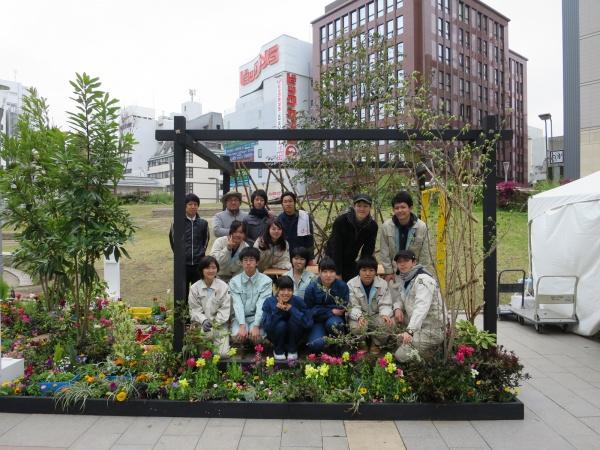 糸島農業高校生との集合写真