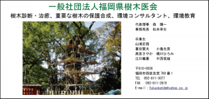 樹木医会 福岡県樹木医会